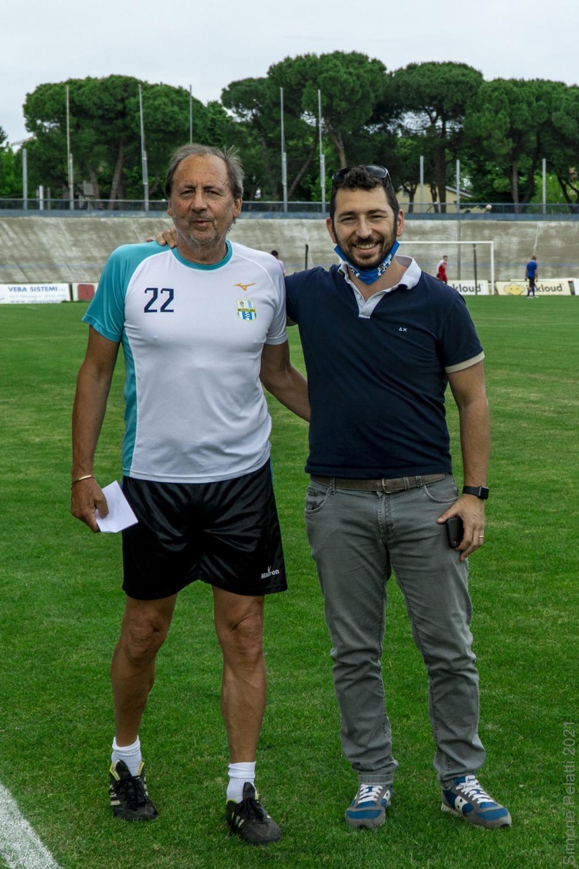 Foto Roberto Busi e Mirko Lazzari - Preparatore dei Portieri e Team Manager del Mezzolara Calcio