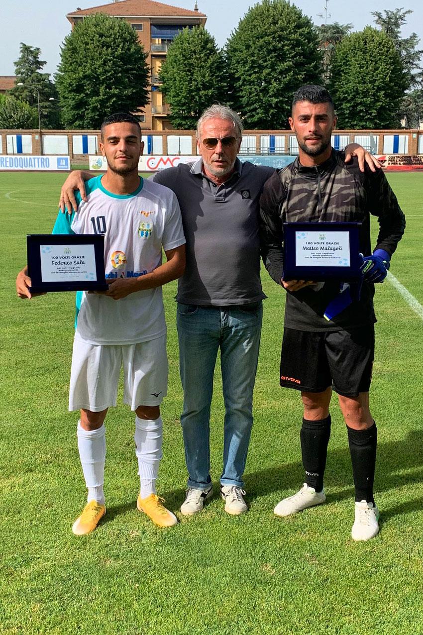 100 presenze con la maglia del Mezzolara di Malagoli Matteo e Sala Federico